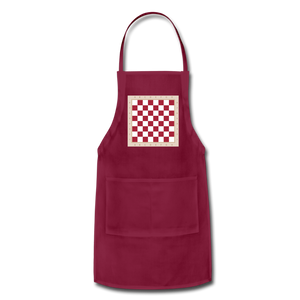 The Chess Board Adjustable Apron - burgundy