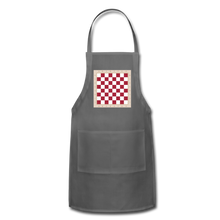 Load image into Gallery viewer, The Chess Board Adjustable Apron - charcoal