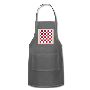 The Chess Board Adjustable Apron - charcoal