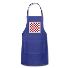 Load image into Gallery viewer, The Chess Board Adjustable Apron - royal blue