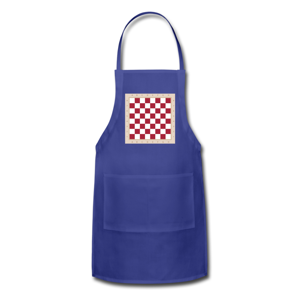 The Chess Board Adjustable Apron - royal blue