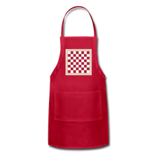 Load image into Gallery viewer, The Chess Board Adjustable Apron - red