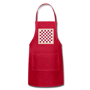 The Chess Board Adjustable Apron - red