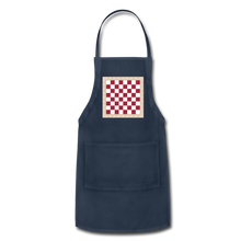 Load image into Gallery viewer, The Chess Board Adjustable Apron - navy