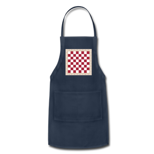 The Chess Board Adjustable Apron - navy