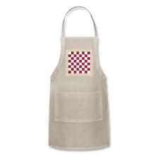Load image into Gallery viewer, The Chess Board Adjustable Apron - natural