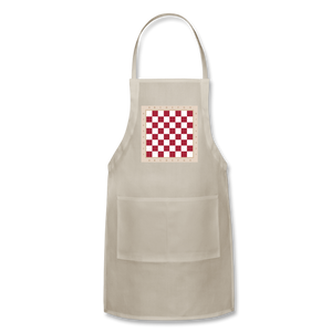 The Chess Board Adjustable Apron - natural
