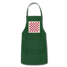 Load image into Gallery viewer, The Chess Board Adjustable Apron - forest green