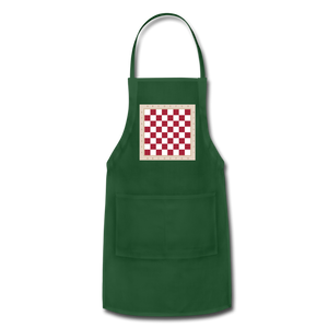The Chess Board Adjustable Apron - forest green