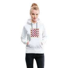 Load image into Gallery viewer, Chess Board Hoodie - white