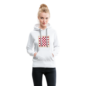 Chess Board Hoodie - white