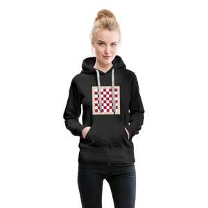 Chess Board Hoodie - black