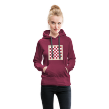 Load image into Gallery viewer, Chess Board Hoodie - burgundy