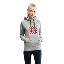 Load image into Gallery viewer, Chess Board Hoodie - heather gray