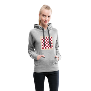 Chess Board Hoodie - heather gray