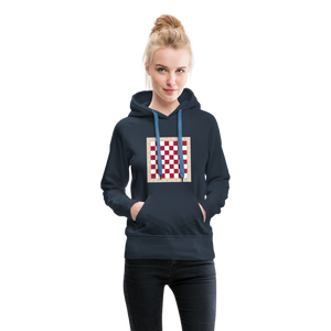 Chess Board Hoodie - navy