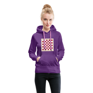 Chess Board Hoodie - purple