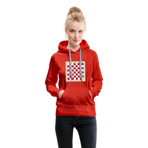 Chess Board Hoodie - red