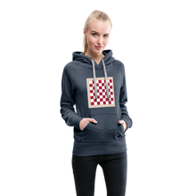 Load image into Gallery viewer, Chess Board Hoodie - heather denim