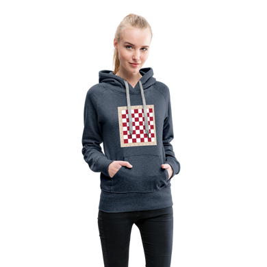 Chess Board Hoodie - heather denim