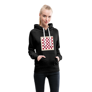 Chess Board Hoodie - charcoal gray