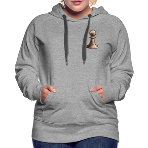 Chess Pawn Hoodie - heather gray