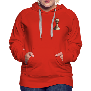 Chess Pawn Hoodie - red