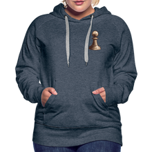 Load image into Gallery viewer, Chess Pawn Hoodie - heather denim