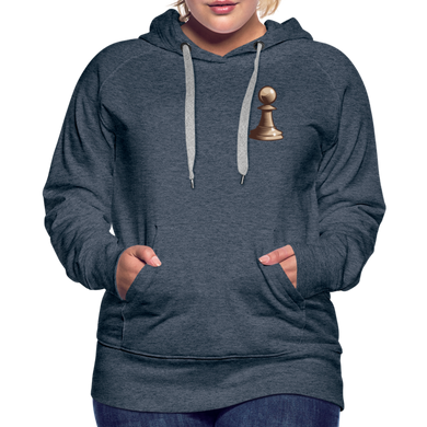 Chess Pawn Hoodie - heather denim