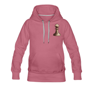Chess Pawn Hoodie - mauve