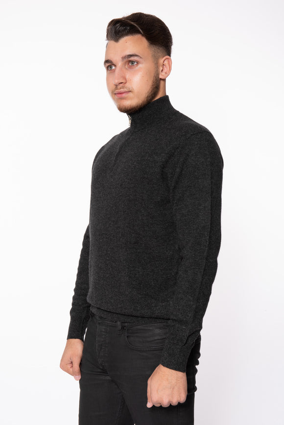 Men's Half Zip Cashmere Sweater