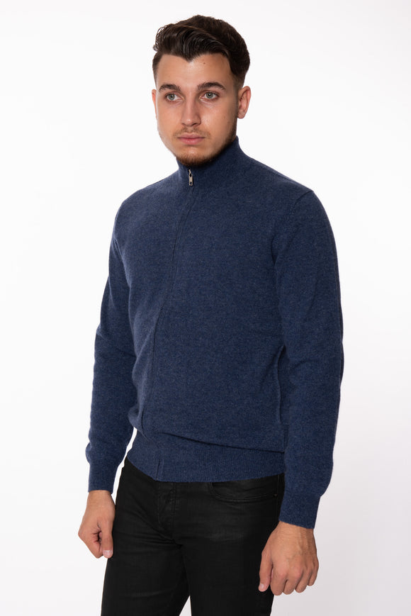 Men's Full Zip Cashmere Sweater