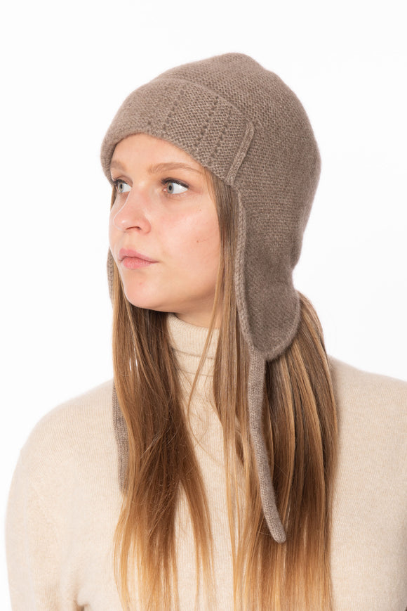 100% Cashmere Stylish Earflap Hat