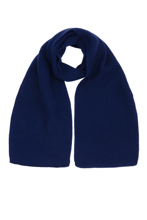 Ink Blue Pure Cashmere Scarf