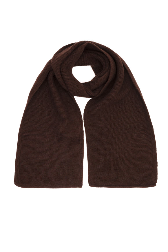 Brown Pure Cashmere Scarf