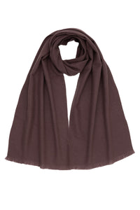 Woven Plum Cashmere Scarf