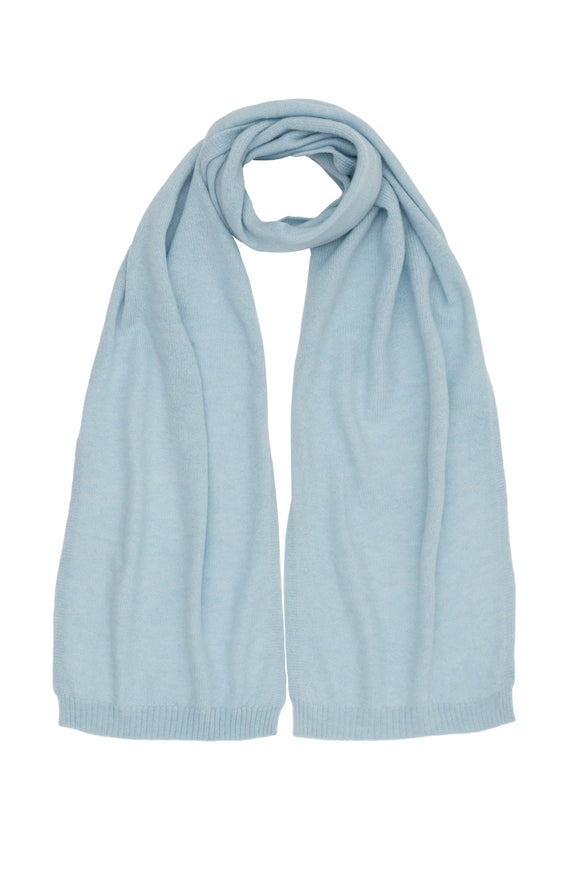 Blue Pure Cashmere Scarf