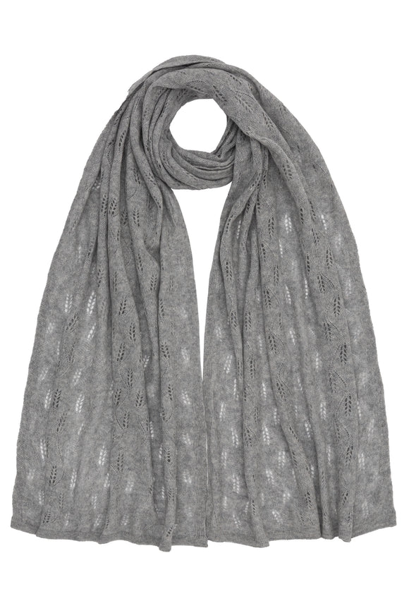 Luxurious Grey 100% Cashmere Shawl