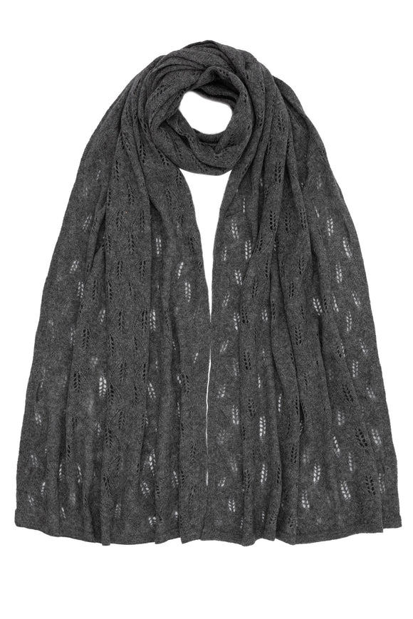 Dark Grey Luxurious 100% Cashmere Shawl