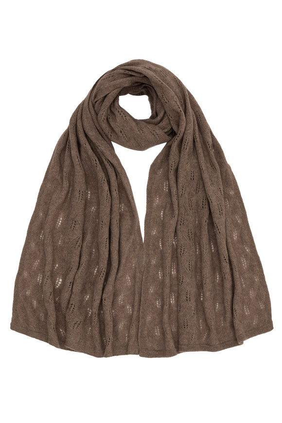 Luxurious Taupe 100% Cashmere Shawl
