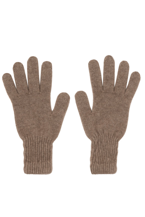 Taupe 100% Cashmere Men's Gloves