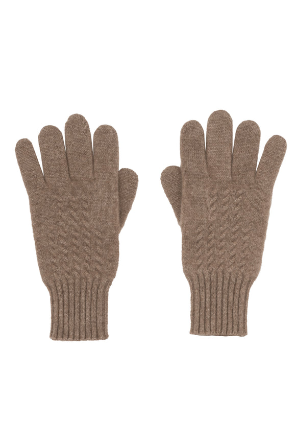 Taupe 100% Cashmere Women's Gloves
