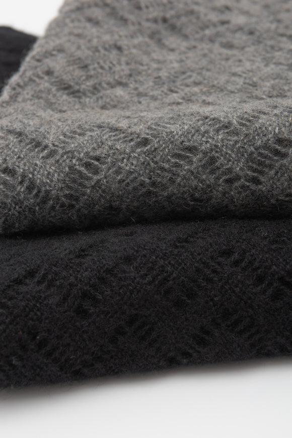 Black Luxurious 100% Cashmere Shawl