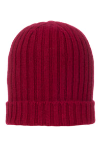 100% Cashmere Chunky Ribbed Hat