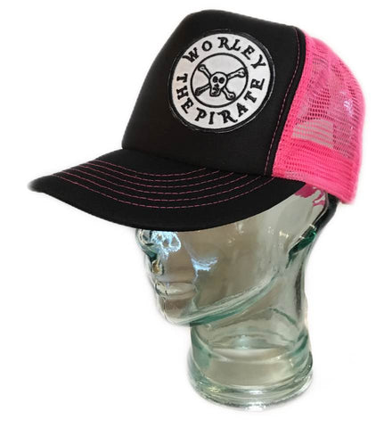 Black & Pink Logo Hat