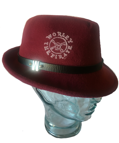 Red Worley the Pirate Fedora Hat