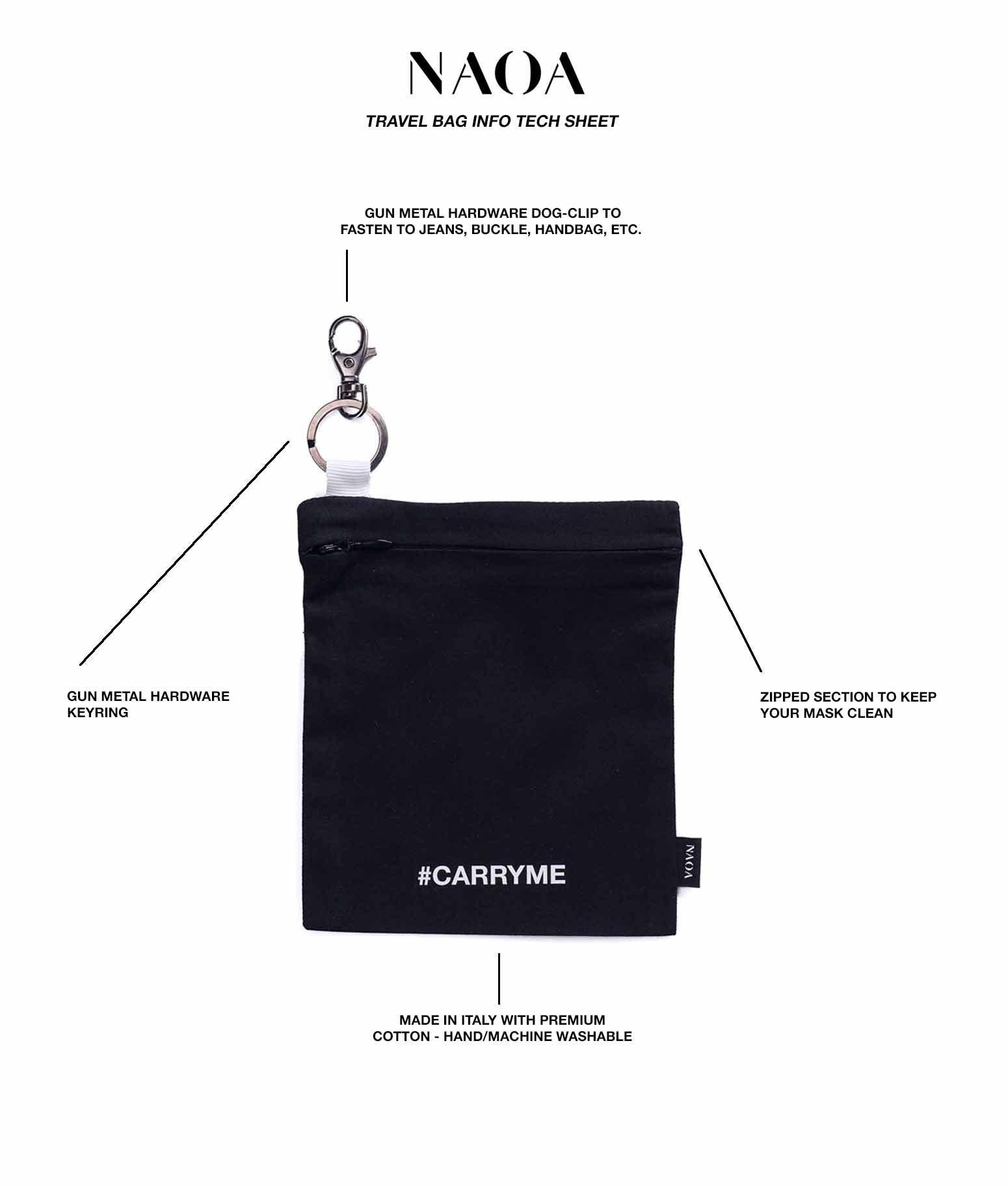 key chain black pouch