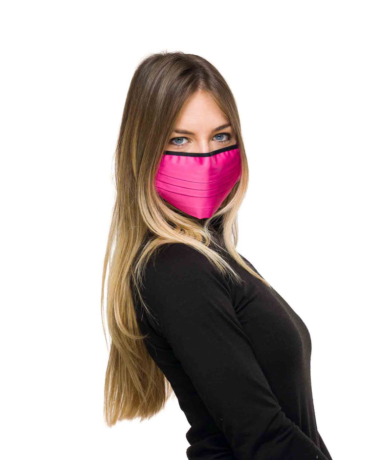 Fuchsia coloured mask