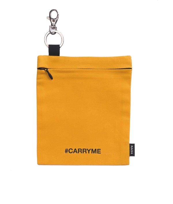 Keychain Cotton Travel Bag Saffron