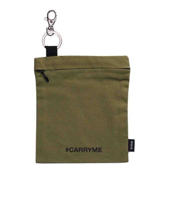 KEYCHAIN COTTON TRAVEL BAG KHAKI - naoadesign